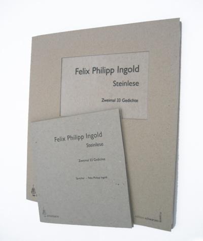 Steinlese - Zweimal 33 Gedichte, Buch und CD